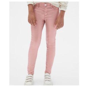 NWT GAP Jeans Pink Foil Stretch Jegging 12